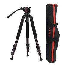 25kg Payload 702A Aluminum 39mm tube skilled Video Digital camera Tripod Legs with fluid head MYT803 max load capability 25kg