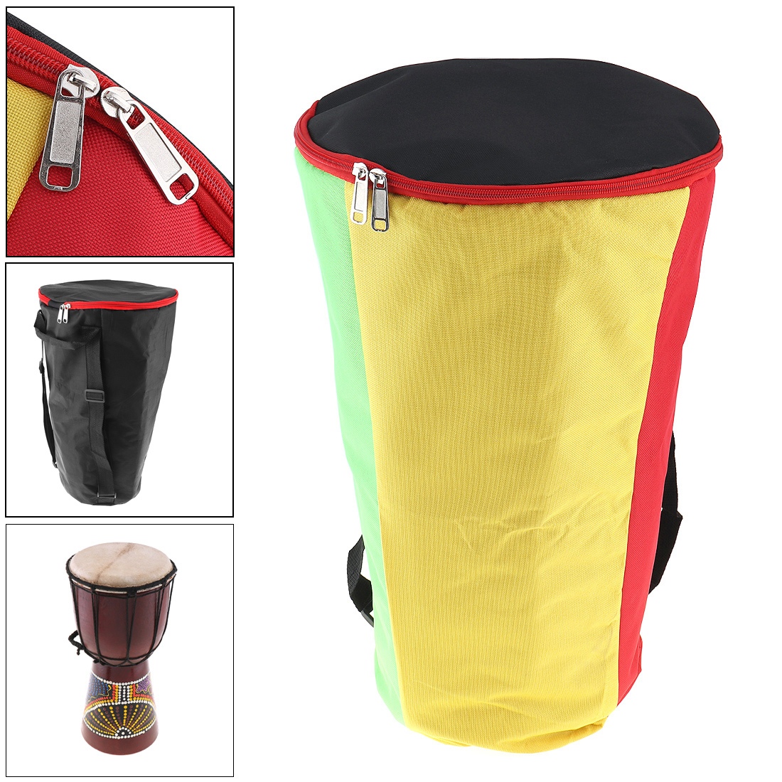 Rational 10 Inch Djembe Bag Case Thick Shockproof Waterproof Africa African Drum Bags Tambourine Shoulders Back Package Aromatic Flavor Parts & Accessories