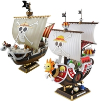 2 Style 28cm Anime One Piece Thousand Sunny&Going Merry Pirate Ship Model Boat PVC Action Figure Collectible Cartoon New Toy