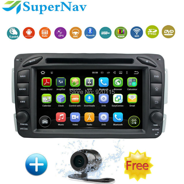 US $360 91 |Car navigation Android for Mercedes benz Vaneo Viano Vito C  W203 CLK C209 W209 with Wifi BT Radio DVD GPS free map+rear camera-in Car