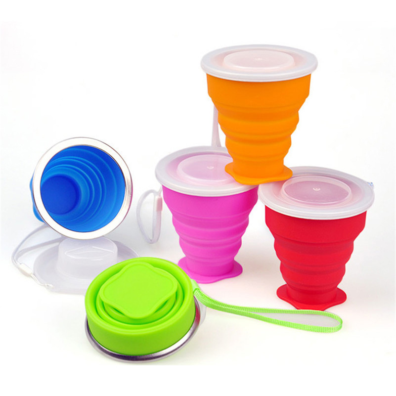 Travel Silicone Retractable Folding Cup Telescopic Collapsible New Vogue Outdoor Portable Water Cup 200-300ml