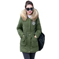 K Raifls New Long Parkas Female Womens Winter Jacket Coat Thick Cotton Warm Jacket Womens Outwear