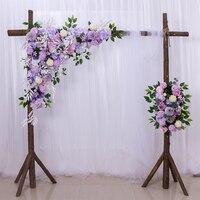 50cm wedding flower wall row photography display supply silk peonies rose artificial flower row decor wedding iron arch backdrop