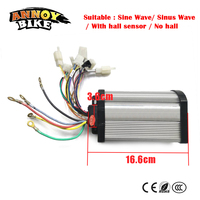 DC Hub Motor Controller 48V 600W 800W 12 Mosfet Sine Wave/ Sinus Wave Sensor Controller for Ebike/ Electric Motorcycl/ Tricycle