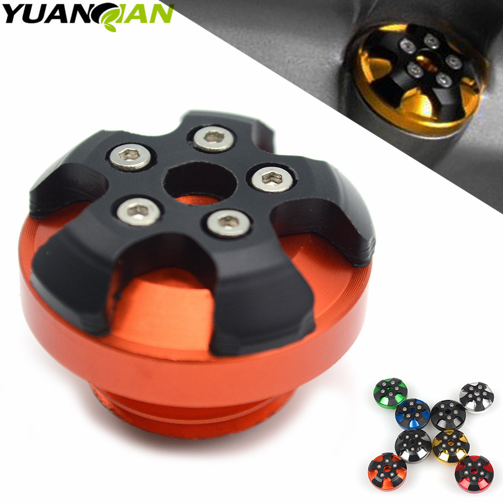 M20*2.5 Motorbike magnetic Engine Oil Filler Cup Cap Plate Brake For <font><b>kawasaki</b></font> <font><b>Z1000</b></font> <font><b>2010</b></font> 2011 2012 2013 2014 2015 YAMAHA DUCATI image