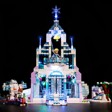 цена на Led Light Set For Lego 41148 friend Snow World Compatible 25002 Elsa's Magical Ice Palace Castle Building Blocks (Only lights)