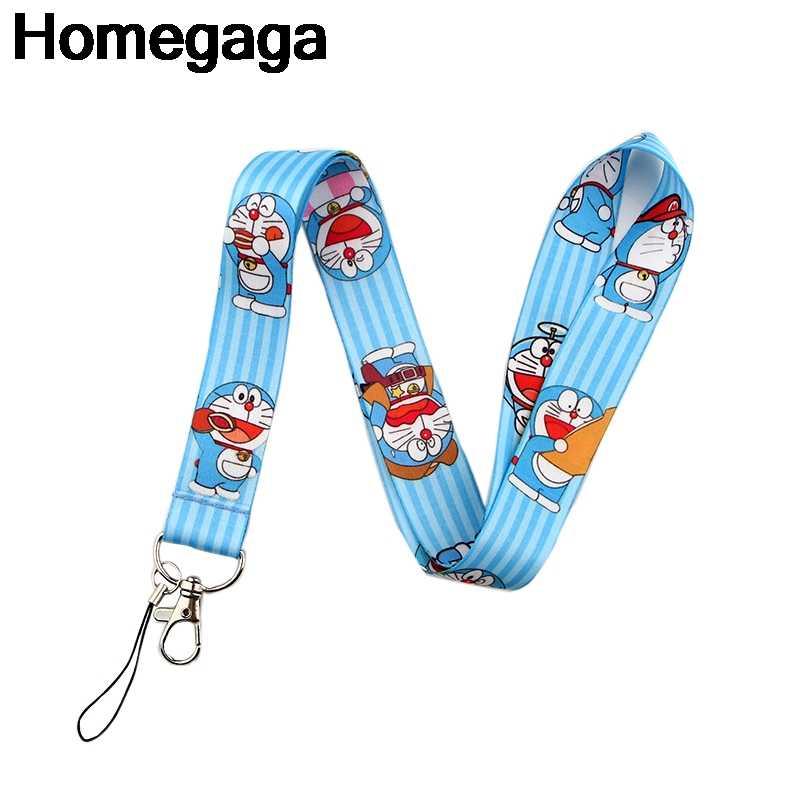 Homegaga Doraemon Gantungan Kunci Aksesoris Keselamatan Memisahkan Diri untuk Ponsel USB ID Badge Pemegang Kunci Tali Kategori Leher Lanyard D2194
