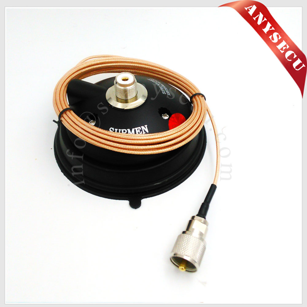 SURMEN K 505M 1.5D Vacuum Magnet 12CM Base + 4M Teflon Line Vacuum Suction Cups For Car Vehilce Radio