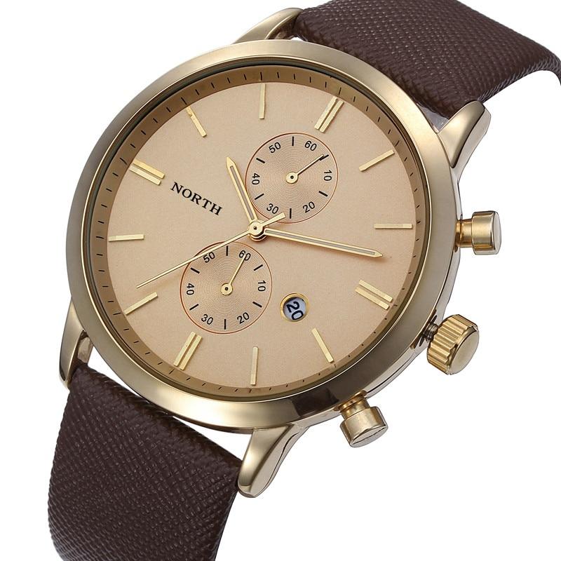 a546070102eb Mejor venta de Relojes para Hombre de moda de lujo fecha Casual de cuero  militar de los hombres reloj de pulsera Relojes reloj masculino regalo
