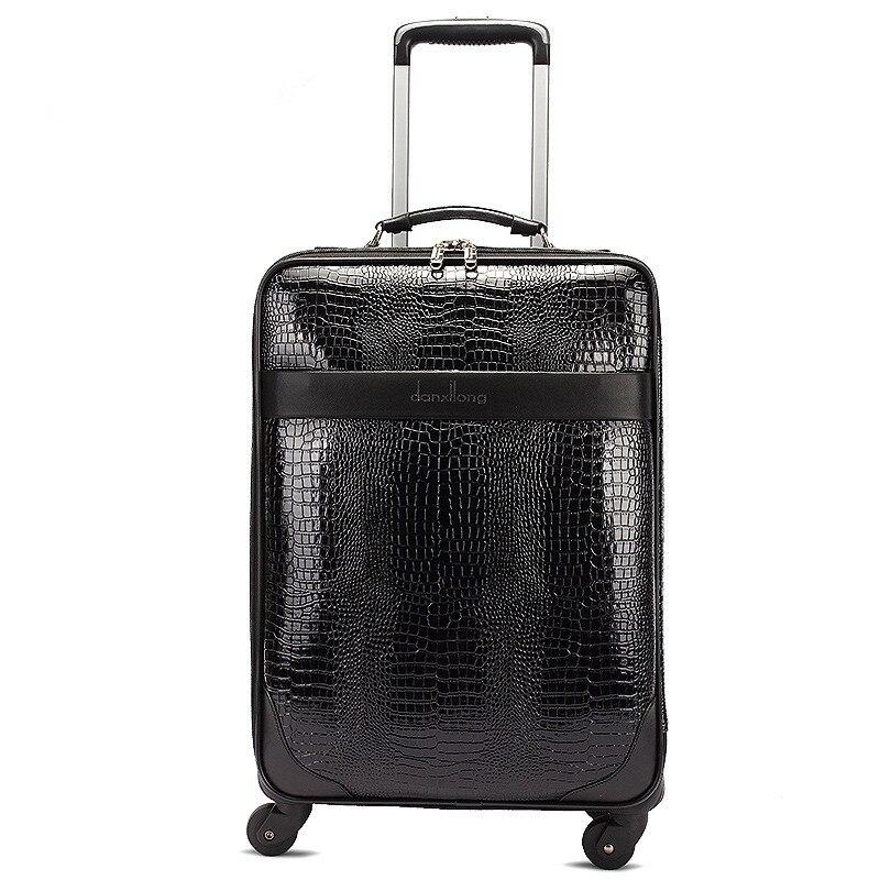 Новый модный стиль vintage24inch искусственная кожа багаж мешок на универсальный колесо, обувь для мужчин и женщин большая емкость luggagefgf-0004-22