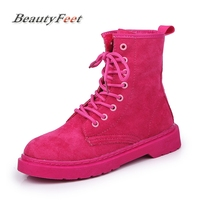Fashion Leather Women Boots Winter Shoes Ankle Boots for Women 2018 Short Plush Adult Female Snow Boots Plus Size BeautyFeet