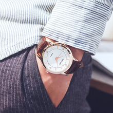 Fashion Leather Lovers Watches Simple Elegant Para Watch Brown Waterproof Couple Gifts For Men/Women Clock Pareja Pair
