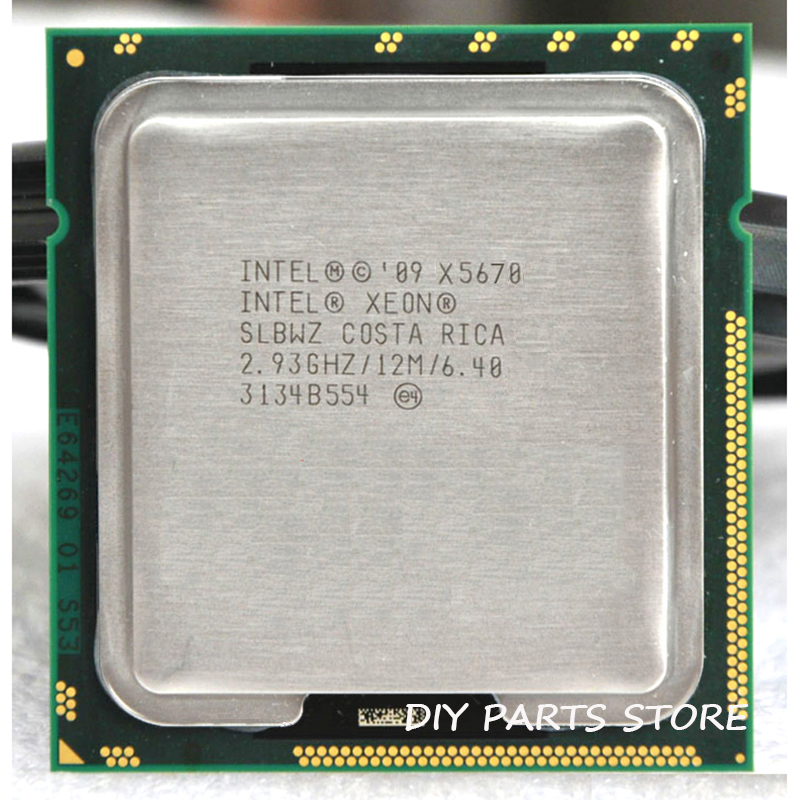 INTEL XONE X5670 CPU INTEL X5670 PROCESSOR  LGA 1366 Six Core 2.93  MHZ  LeveL2  12M  6 Core