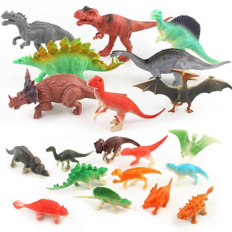 LittLove Dinosaurs Model Cute Animals Gifts Boys Toys Hobbies Kids Mini & Big Jurassic Plastic Dinosaurus Figures 12pcs Set Toy