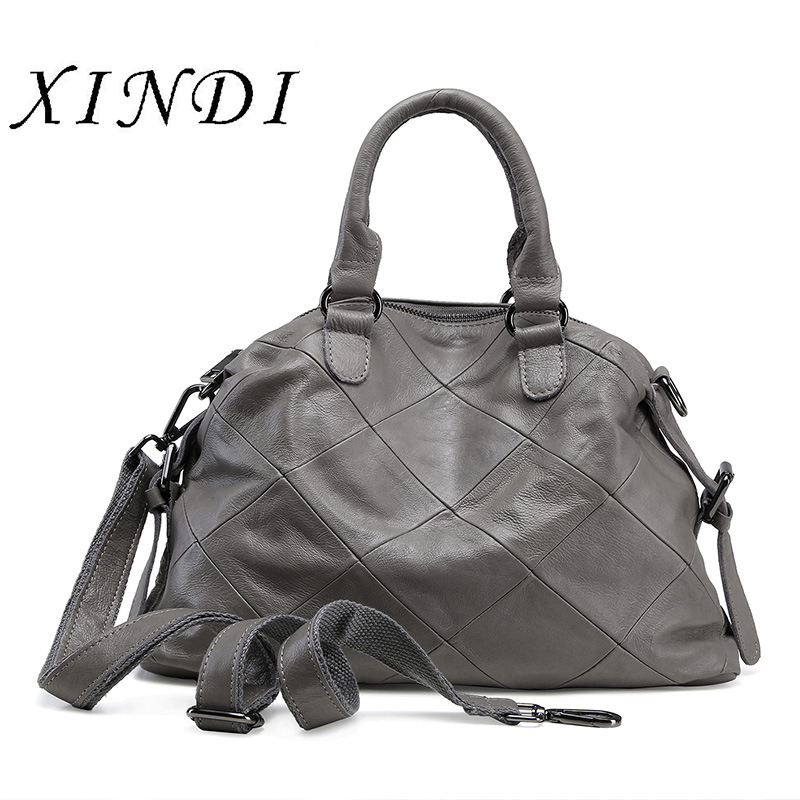 Bag ladies genuine leather luxury handbags women bags designer High Quality female bag Sac a Main womens shoulder messenger bag 2018 luxury handbags women bags designer high quality pu leather womens crossbody bags female messenger shoulder bag hand bag