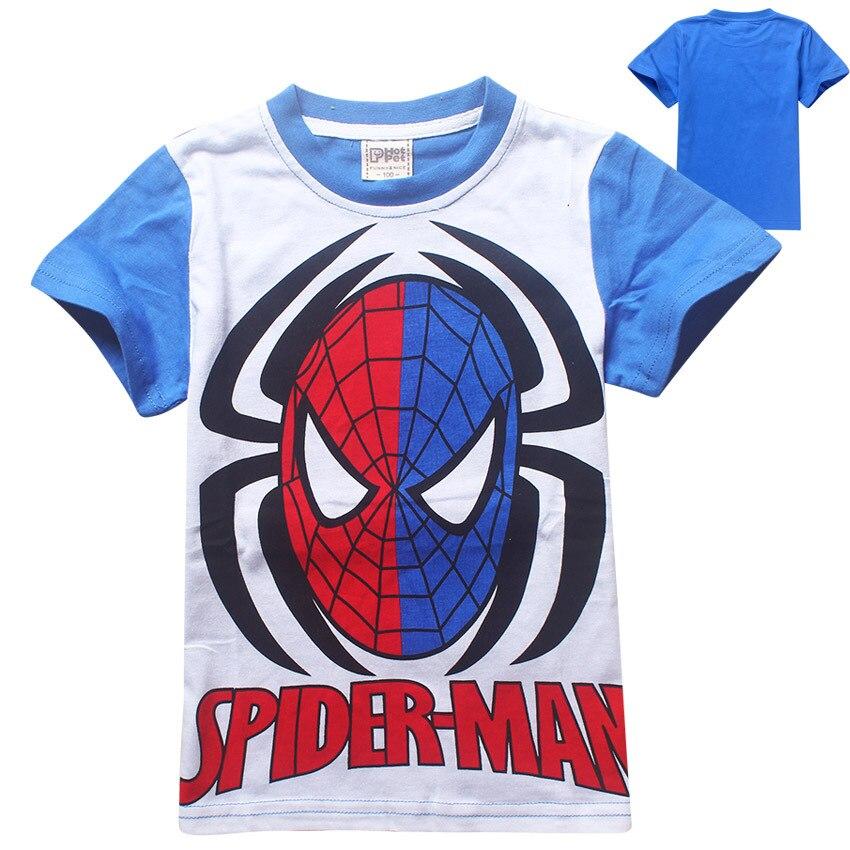 Boys T-Shirt Short-Sleeved Spiderman Clothing Character Cotton Children Summer New Brand