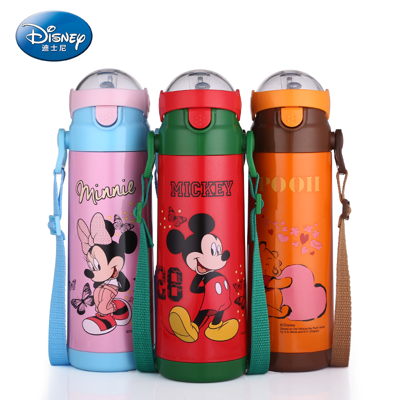 Disney Thermos 350/500ml Outdoor Portable Bottle Water Mickey Vacuum Flasks 304 Stainless Steel Children's Cup Thermal Cup