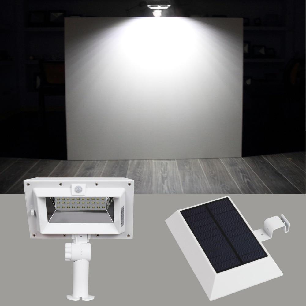 Quality In Brilliant T Sunrise 30 Led Outdoor Wall Light 3000k/6000k Led Solar Gutter Light Pir Solar Motion Sensor Lamp Waterproof Ip44 Steet Light Superior