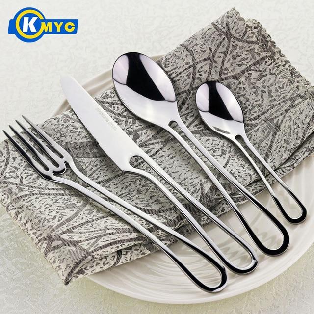 KMYC4Pcs Exquisite Westlichen Silber Abendessen Geschirr Set Kit ...