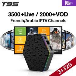T95Z plus S912 3GB 32GB Android 7.1 Smart TV Box SUBTV IPTV 3500 Channels Turkish Germany EX-YU Albania Arabic French IPTV Box