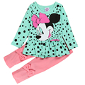 Algodão Meninas Minnie Mouse Conjuntos de Roupas de Primavera 2 pcs Terno trajes Dos Desenhos Animados Do Bebê Set T Shirt + Calças Roupas Para 1 2 3 4 5 6 Anos
