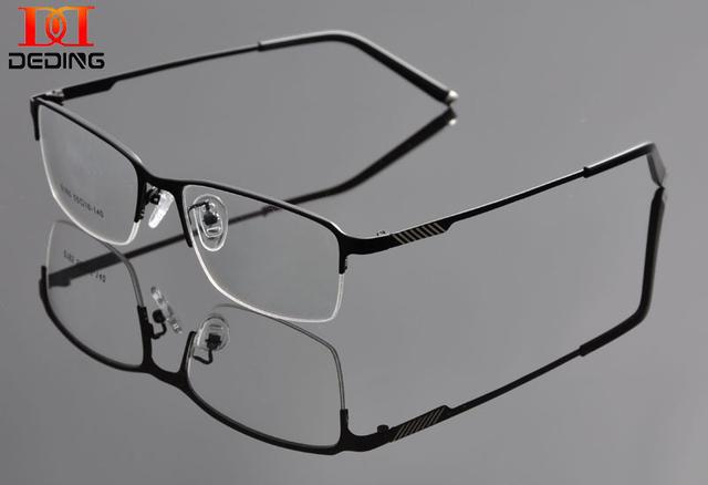 Meia aro óculos homem óculos de Metal óculos quadro de miopia óculos armação de óculos de GrauDD0922