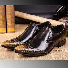 Christia Bella Marke Italienischen Business Schuhe Männer Oxfords Geschnitzte Echtem Leder Männer Schuhe Hochzeit Kleid Schuhe männer Wohnungen