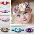 Baby Flower Headband chiffon Flower Headwear Kids infant elastic hairband headwear girls hair accessories 1pcs