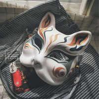 Neue Japanische Private Fuchs Maske Hand-gemalt Großmeister von Dämonische Anbau Wei Wuxian Fuchs Maske Halloween Cosplay Foto Requisiten