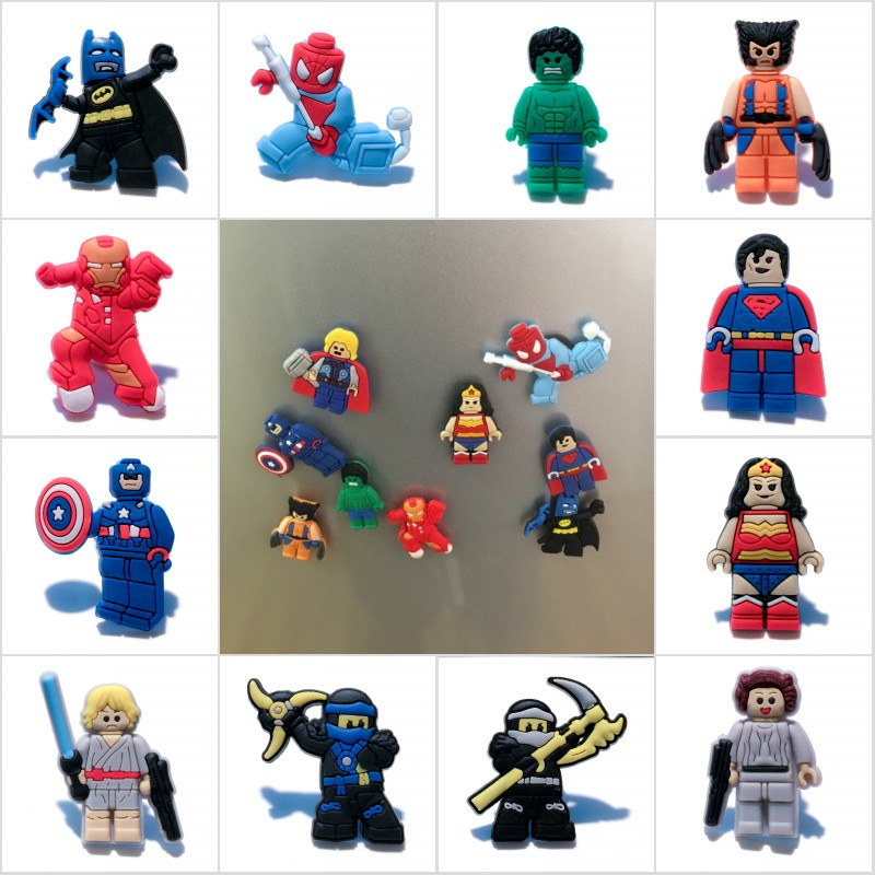 160pcs Superhero Cartoon Pvc Shoe Buckles Shoe Charms Fit For Shoes&wristbands With Holes Furniture Accessories Kids Favors Furniture