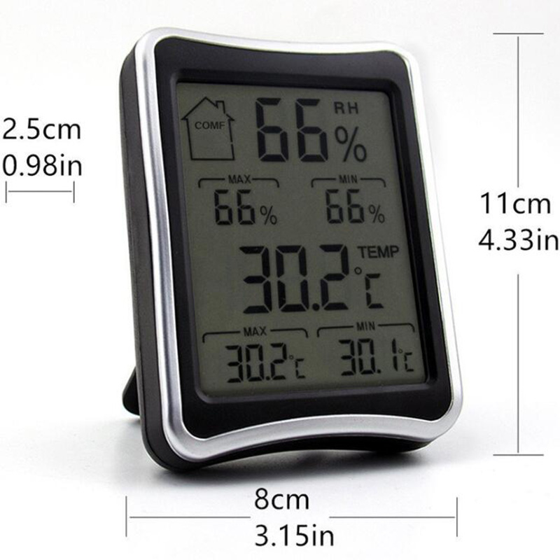 BEYLSION Digital Temperature Humidity Thermometer Hygrometer Electronic Thermometer Humidity Monitor For Plant Grow Lamp Tent (4)