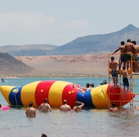 Бесплатная доставка 9 м * 3 м надувной блок прыжки водно воздушный мешок вода надувная катапульта надувная вода прыжки подушка