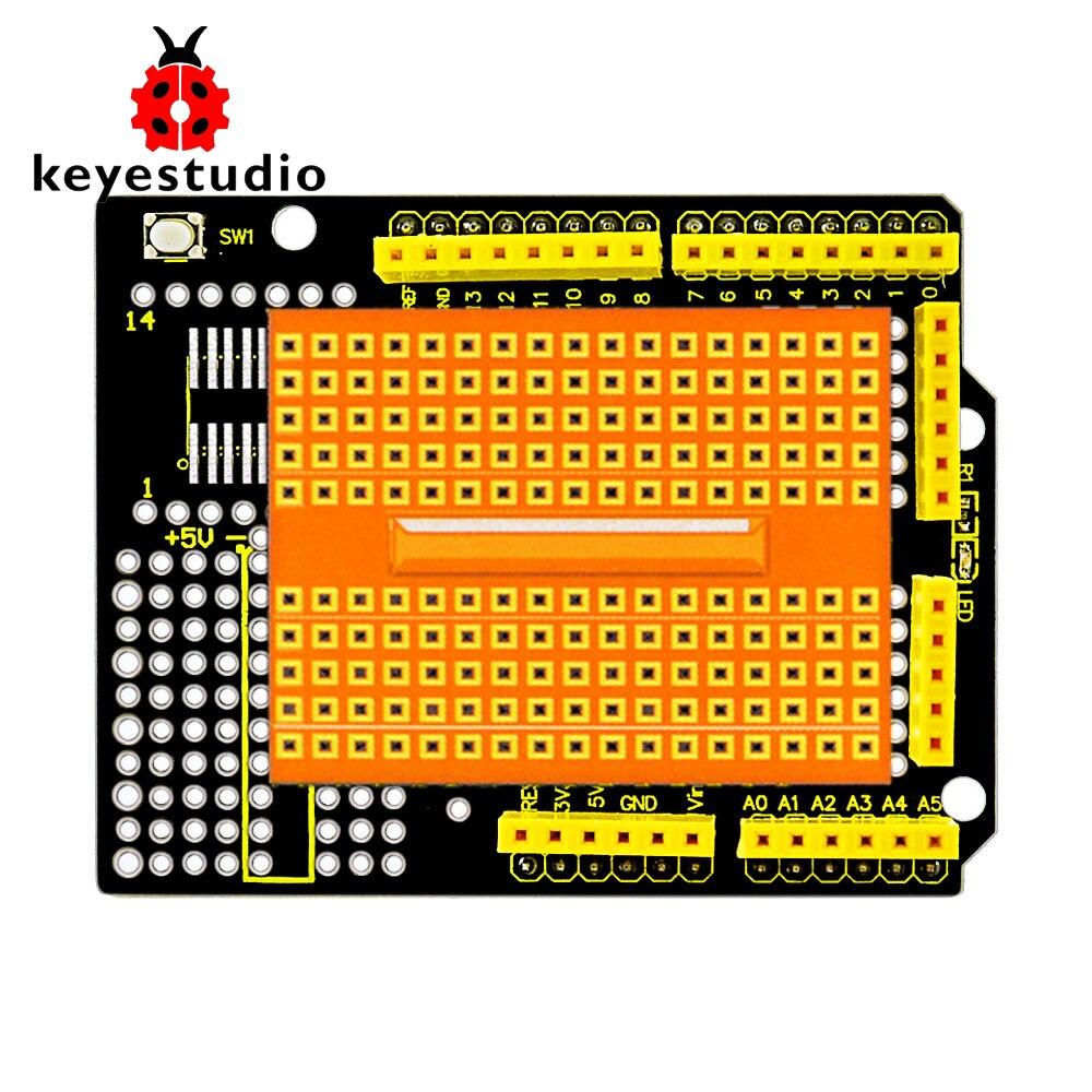 N2017 New Keyestudio Protoshield For Arduino With Mini Breadboard Kaos Ocean Seven Doraemon 15 2017