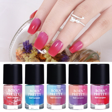 ФОТО  born pretty 9ml peel off temperature color changing glitter  varnish thermal nail polish lacquer 8 colors optional nail art