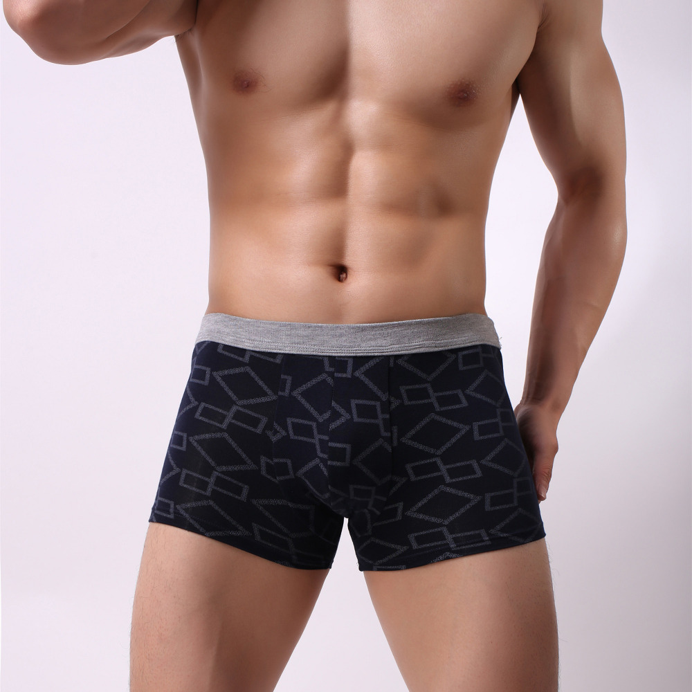 Health Solid Classic Bamboo Mens Underwear Boxer Sexy Underwear Men Crotchless Underwear For Men Cuecas Boxer Masculina De Marca