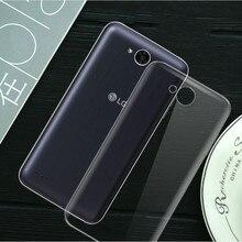 For LG X Power 2 Case Silicone Transparent Original TPU Power2 Cover Etui Silm Clear Soft White Coque Fundas Capa