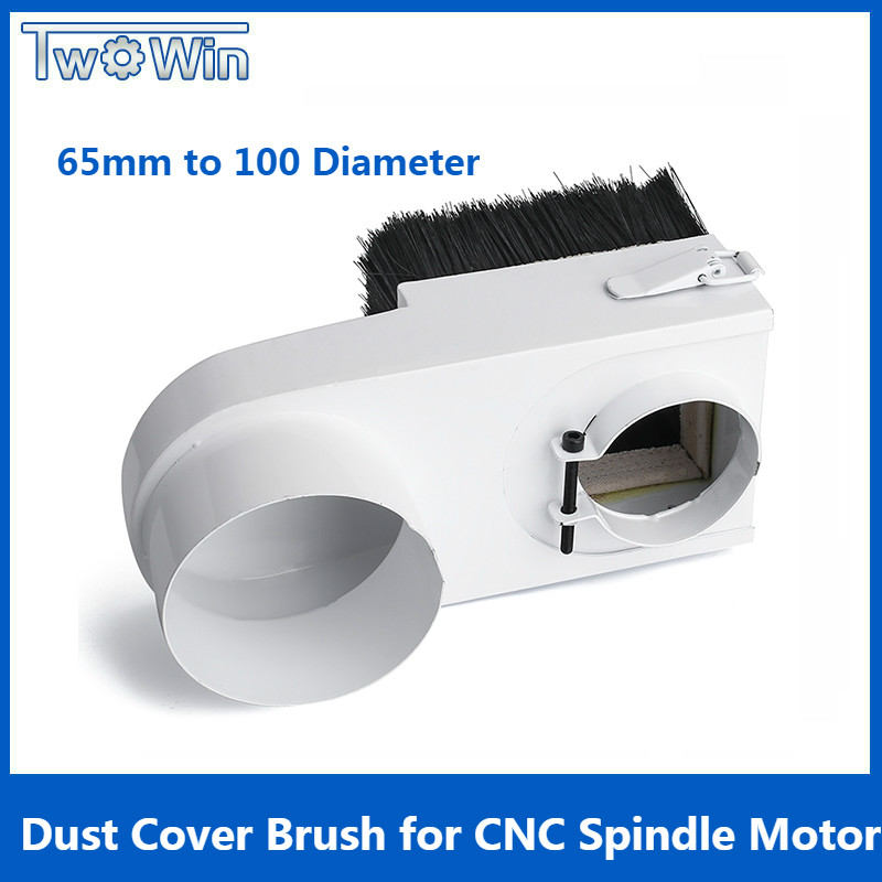 65mm/85mm/100mm/125mm Diameter Dust Collector Dust Cover Brush For CNC Spindle Motor Milling Machine Router Woodworking Tools65mm/85mm/100mm/125mm Diameter Dust Collector Dust Cover Brush For CNC Spindle Motor Milling Machine Router Woodworking Tools