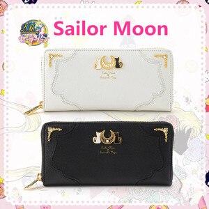 Image 1 - New Anime SAILOR Moon Tsukino Usagi คอสเพลย์อุปกรณ์เสริมผู้หญิงสาวดวงจันทร์ Luna สัญลักษณ์กระเป๋าถือ PU กระเป๋าสตางค์ซิปกระเป๋าเหรียญ