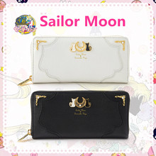 New Anime Sailor Moon Tsukino Usagi Cosplay Accessories Women Girls Moon Luna Symbol Handbag Clutch PU Wallet Zipper Coin Purse