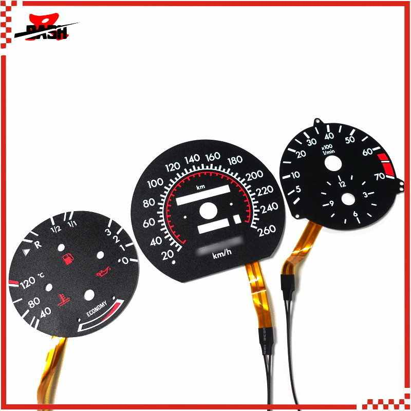 DASH 260 KM for Mercedes W124 W126 W201 190E EL Glow Gauge