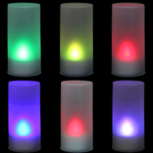 New 7 Color LED Changing Electronic Flameless Candle Lamp   XH8Z