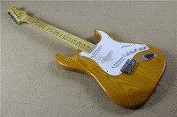 Custom Shop klassische st Kundenspezifische elektrische gitarre, zwei stück eschenholz körper, natürliche farbe, ahorn neck.22 bünde st gitarre. hohe qualität
