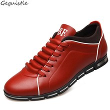 New Casual Men's Business Shoes High Increased Fashion Shoes Men Soft Leather Comfortable Natural Health Shoes