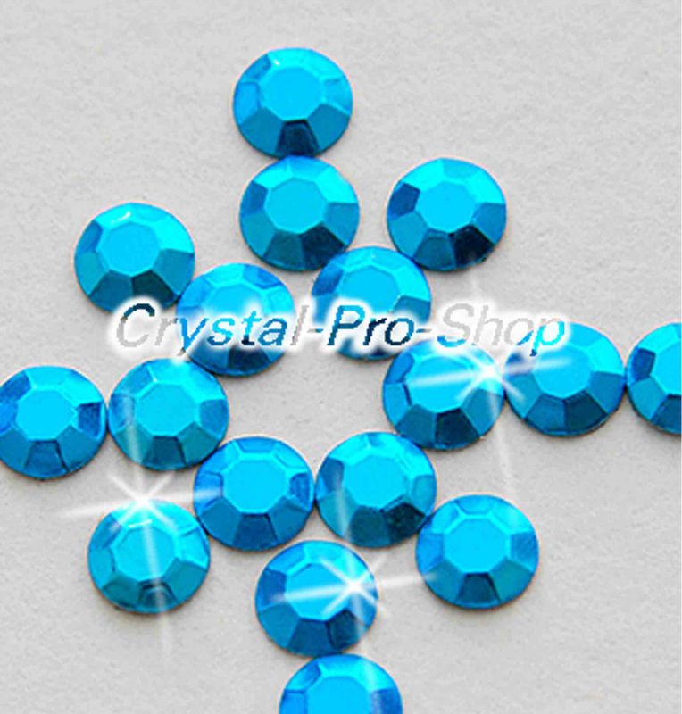 7200 pieces Aquamarine 3mm 10ss ss10 Faceted Hotfix Rhinestuds Iron On Round Beads Aluminium Metal Art DIY (u3m-Aqua-50 gr)