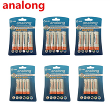 Original 12Pcs 1 2V High Capacity AA 2200mAh Batteries 12Pcs AAA 1000mAh Batteries aa aaa 3A