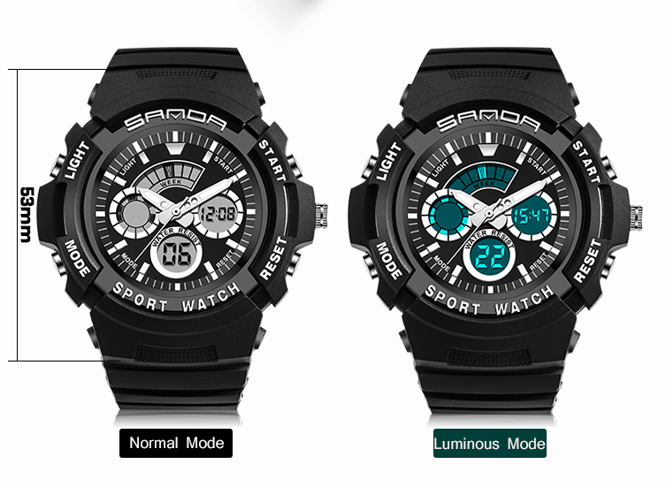 SANDA Digital Watch G Style Mens Fashion Sports Mlilitary Digital Waterproof Clock Outdoors Shock Wristwatches Relojes Hombre