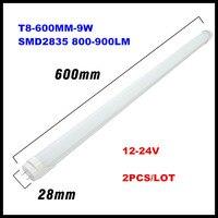 12V 24V LED Bulb Light T8 Fluorescent LED Tube Lamp 600MM 9W LED Solar Tube CE