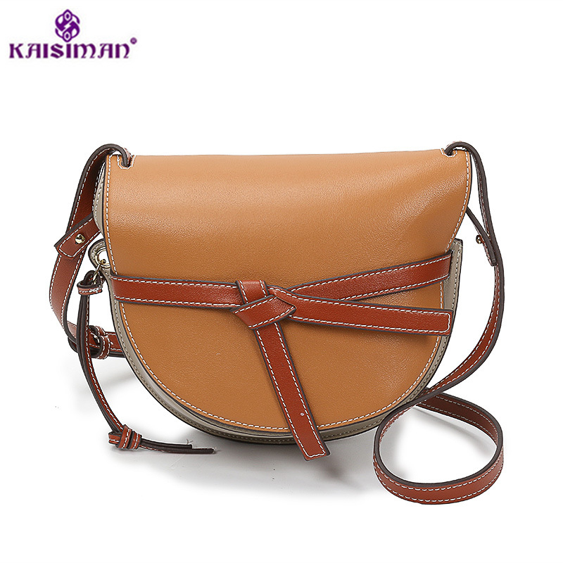 Fashion Belt Bow Bags Luxury Brand Designer Women Genuine Leather Cloe Bag High Quality Real Cowhide Shoulder Crossbody Bags Sac