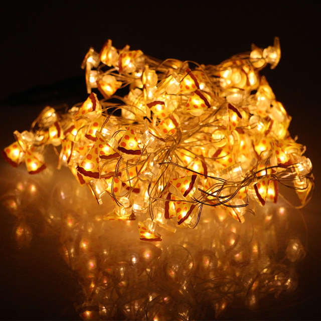 15m 200leds christmas fairy lights cat musical note pizza shape led starry string lights decoration