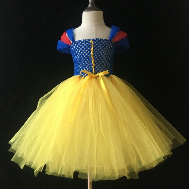 73ecce0d9e Little Girls Princess Tutu Dress Kids Fluffy Crochet Tulle Tutus Ball Gown  with Shoulder Ribbon Bow Children Cosplay Party Dress